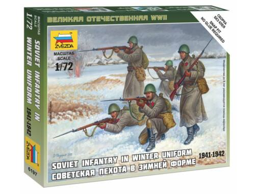 Zvezda Soviet Infantry (Winter Uniform ) 1:72 (6197)