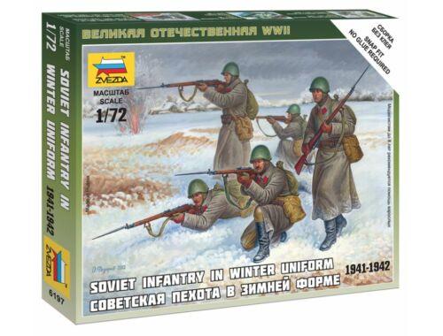 Zvezda Soviet Infantry (Winter Uniform ) 1:72 (6197)