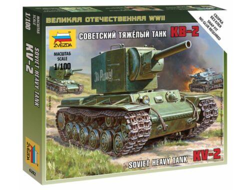 Zvezda Soviet Tank KV-2 1:100 (6202)