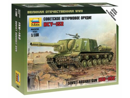 Zvezda Soviet Self-Propelled Gun ISU-152 1:100 (6207)