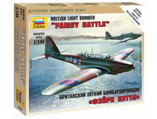 Zvezda British Light Bomber 'Fairey Battle' 1:144 (6218)