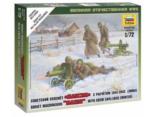Zvezda Soviet Machine-gun w/Crew 1:72 (6220)