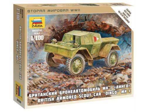 Zvezda British Armored Car Daimler Mk-1 1:100 (6229)