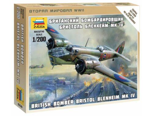Zvezda British Bomber Bristol Blenheim IV. 1:200 (6230)