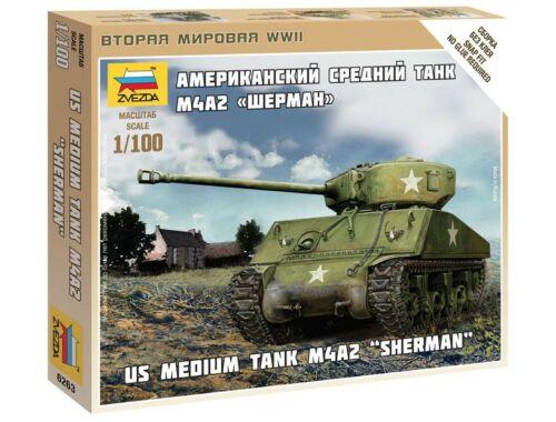 Zvezda M4A2 Sherman 1:100 (6263)