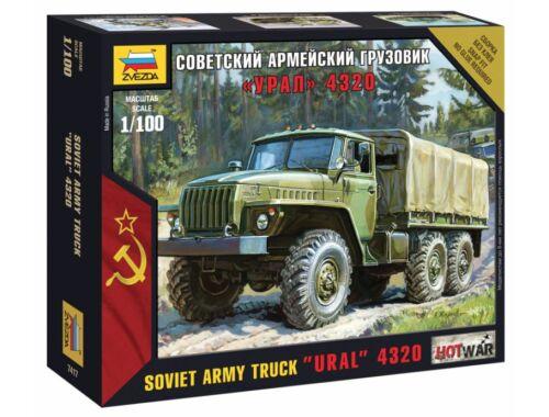 Zvezda Soviet Army Truck 'Ural' 4320 1:100 (7417)