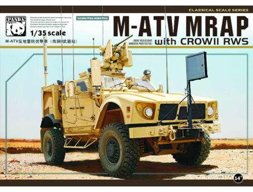 Panda Hobby M-ATV MRAP w/Crow II RWS 1:35 (35007)