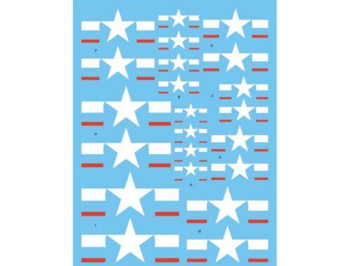 Techmod US. National Insignia (8) 1943 to present 1/48 (48109)