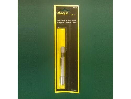 MAX Pencil Type Pin Vise w/6 Drill Bits - kézi fúró készlet (54001)