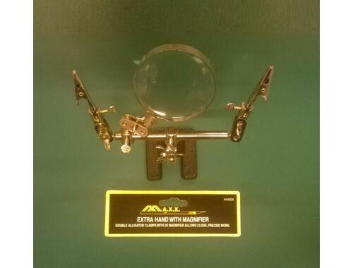 MAX Helping Hand with Magnifier - csipeszes tartóállvány (54020)