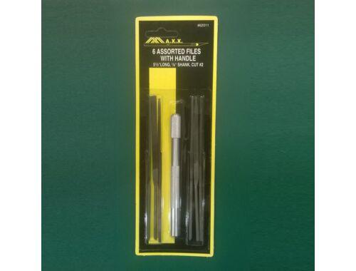 MAX 6 Assorted Needle Files with Handle - reszelő készlet (62011)