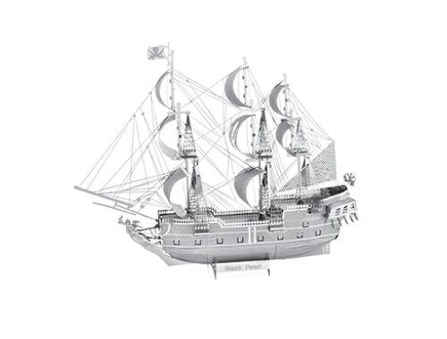 Metal Earth ICONX - Fekete Gyöngy vitorlás hajó