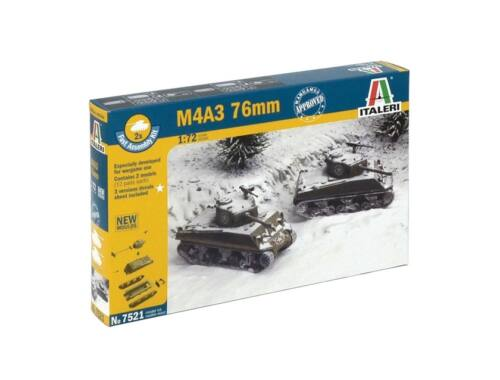 Italeri M4A3 76mm 2in1 Fast Assembly Kit 1:72 (7521)