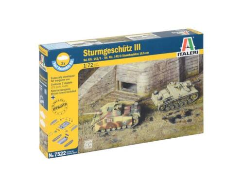 Italeri Sturmgeschütz III 2in1 Fast Assembly Kit 1:72 (7522)