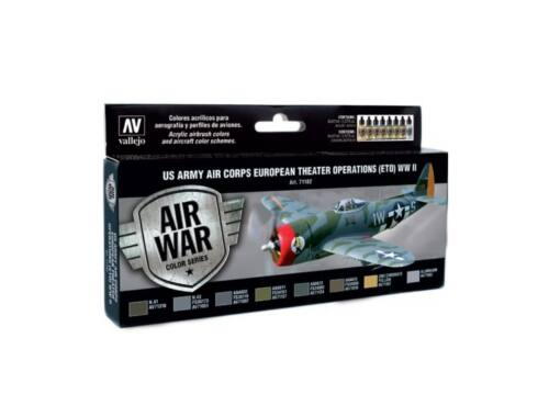 Vallejo Model Air Paint Set (8 x 17ml) - US Army (ETO) WWII (71182)