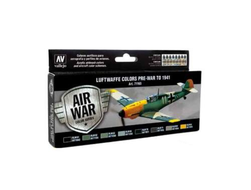 Vallejo Model Air Paint Set (8 x 17ml) - Luftwaffe to 1941 (71165)