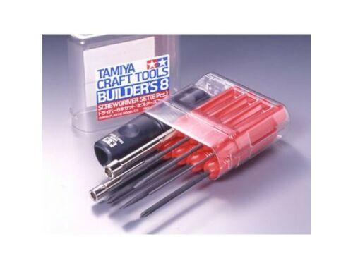 Tamiya Tamiya Screwdriver set 8pcs - szerszámkészlet (74023)