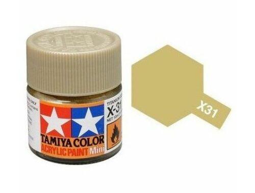 Tamiya AcrMini X-31 Titanium Gold (81531)
