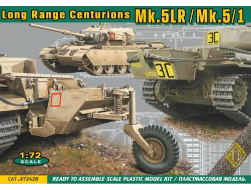 ACE Centurion Mk.5LR/Mk.5:1 w/external fuel tanks 1:72 (ACE72428)