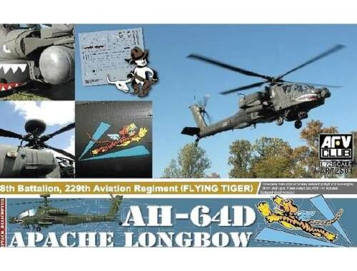 AFV Club AH-64D the plastic parts of injection from ACADEMY 1:72 (AR72S01)