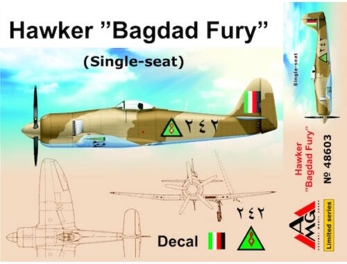 "AMG Hawker ""Bagdad Fury"" (Single seat) 1:48 (AMG48603)"