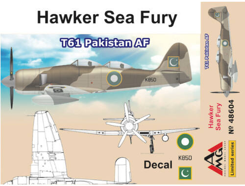 AMG Hawker Sea Fury T61 Pakistan AF 1:48 (48604)