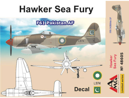 AMG Hawker Sea Fury F61 Pakistan AF 1:48 (48605)