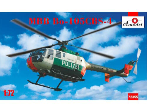 Amodel MBB Bo-105CBS-4 Helicopter 1:72 (72355)