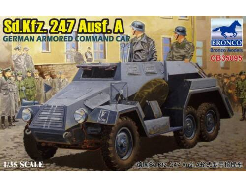 Bronco Sd.Kfz.247 Ausf.A.German Armored Command Car 1:35 (CB35095)
