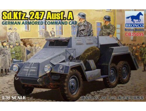 Bronco Sd.Kfz.247 Ausf.A.German Armored Command Car 1:35 (CB35095)