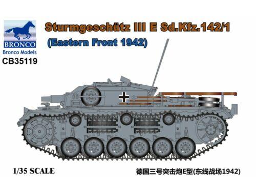 Bronco Sturmgeschütz III E Sd.Kfz.142/1(Eastern Front 1942) 1:35 (CB35119)