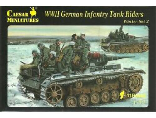Caesar WWII German Infantry Tank Riders 1:72 (H079)