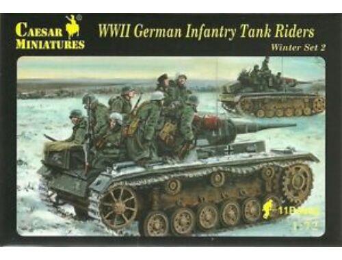 Caesar WWII German Infantry Tank Riders 1:72 (H079)