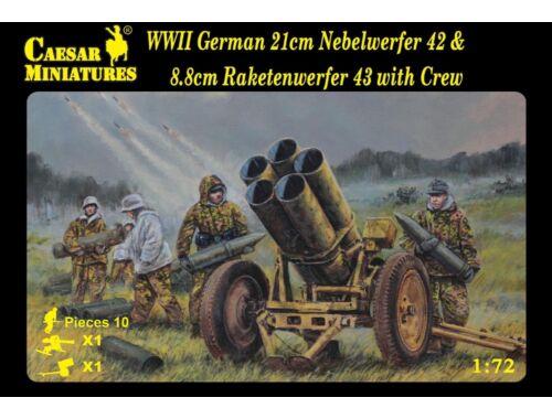 Caesar Ger. 21cm Nebelwerfer 42   8,8cm Raketenwerfer 43 with Crew 1:72 (H093)