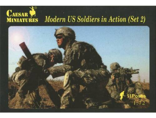 Caesar Modern US Soldiers in Action Sets2 1:72 (H094)