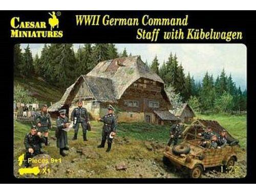 Caesar WWII German Command Staff with Kübelwage 1:72 (H095)