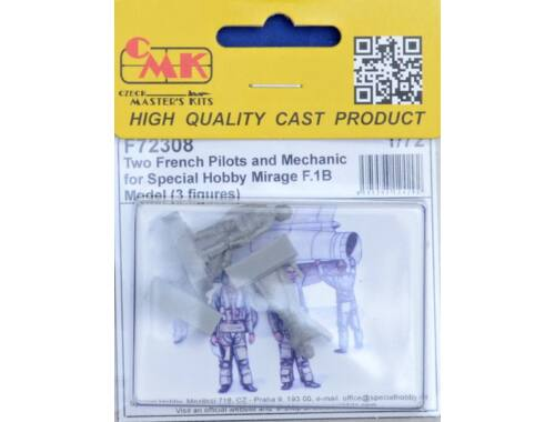 CMK Two French Pilots and Mechanic for Special Hobby Mirage F.IB Model 1:72 (F72308)
