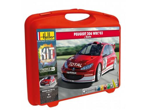 Heller Model Kit Peugeot 206 WRC 2003 ( piste) 1:43 (60113)