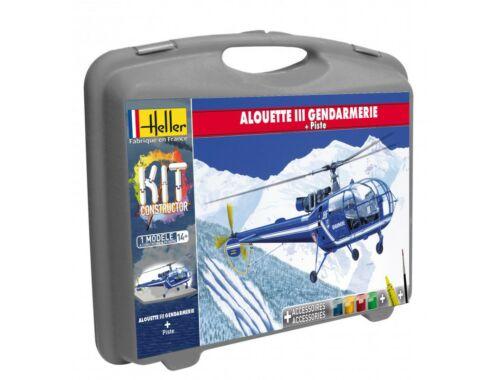 Heller Model Kit Alouette III Gandarmerie ( piste) 1:72 (60286)