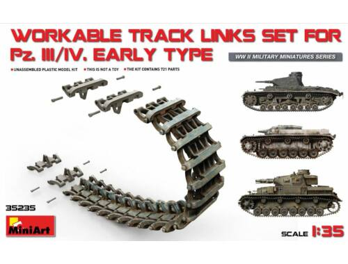 Miniart Pz.Kpfw III/IV Workable Track Links Set Early Type 1:35 (35235)