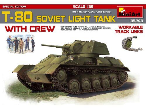 Miniart T-80 Soviet Light Tank w/Crew SpecialEdi 1:35 (35243)
