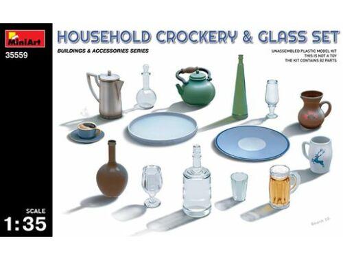 Miniart Household Crockery   Glass Set 1:35 (35559)
