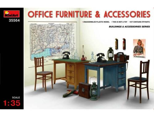 Miniart Office Furniture   Accessories 1:35 (35564)