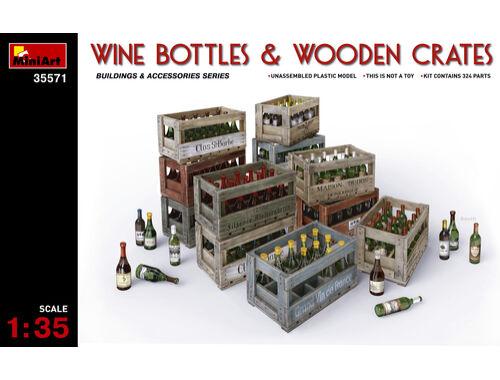 Miniart Wine Bottles   Wooden Crates 1:35 (35571)