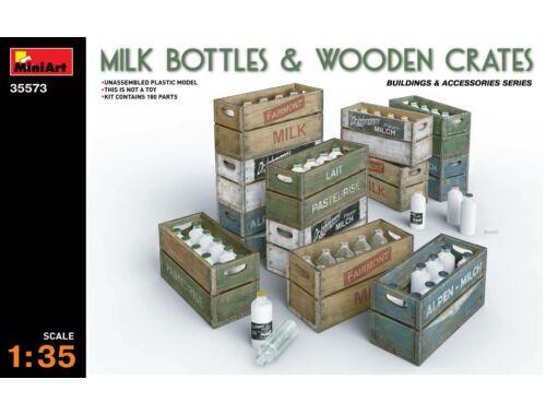 Miniart Milk Bottles   Wooden Crates 1:35 (35573)