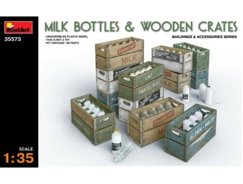 Miniart Milk Bottles   Wooden Crates 1:35 (35573)