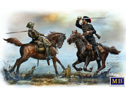 Master Box British and German cavalrymen,WWI era 1:35 (35184)