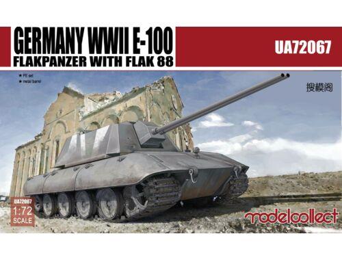 Modelcollect Germany WWII E-100 Flakpanzer w.FLAK 88 1:72 (UA72067)