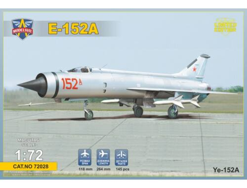 Modelsvit Ye-152A Soviet twin-engined interceptor prototype 1:72 (72028)