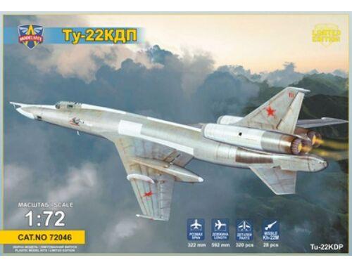 Modelsvit Tupolev Tu-22KDP Anti-radar missile carr (with Kh-22 missile a.missile trolley 1:72 (72046